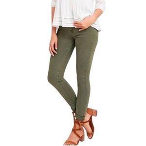 J. Crew Toothpick Skinny Jeans in Olive Green